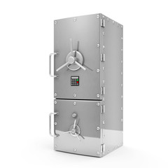 Modern Refrigerator with Safe Door. Dieting concept
