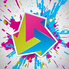 Paint explosion, Impossible arrows, 3 arrows