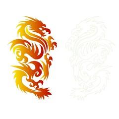 drawing  dragon.