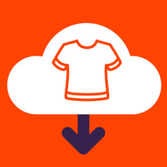 cloud download  T-shirt.