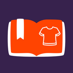 book with a  T-shirt.
