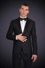 businessman in tuxedo