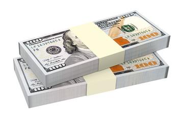 Dollars money isolated on white background.