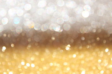 white silver and gold abstract bokeh lights