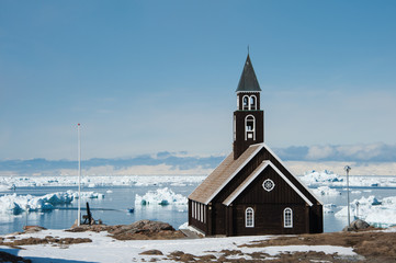 Photo Blinds Pole Zion Church, Ilulissat, Greenland.