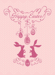 Delicate Easter card