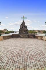 Statue of Pieta, in the Charles Bridge in Prague.