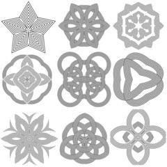 Set of abstract design elements. Vector illustration.