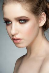 Woman with makeup