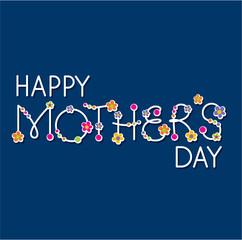 vector happy mothers day handlettering headline