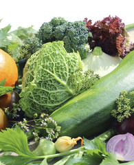 Ripe fresh vegetables close up