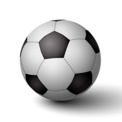 Fototapete - Realistic soccer ball for football icon