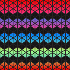 Abstract colorful Geometric triangles background