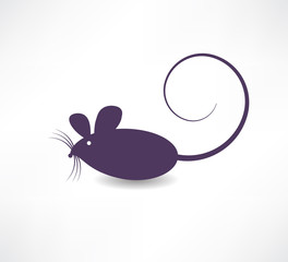 Dark rat icon.
