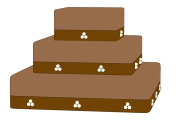 cartoon image of wedding cake