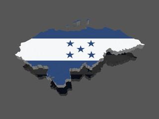 Map of Honduras.