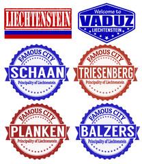 Liechtenstein cities stamps