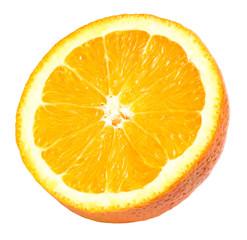 Fresh Half Orange Section Isolated On White