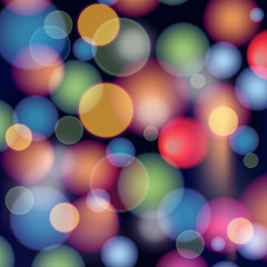 Abstract background with bokeh effect, vector composition