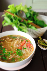 Thai noodle with vegetable, Delicious food