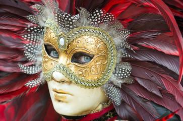 Wall Mural - Venice carnival mask
