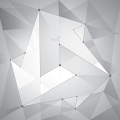 Abstract composition, transparent geometric shapes, arrows