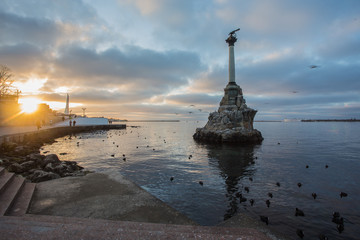 Monument to the Scuttled Warships in Sevastopol, Ukraine