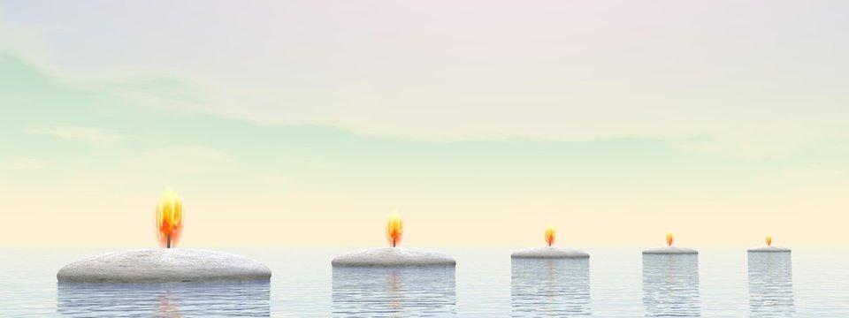 Candle steps - 3D render