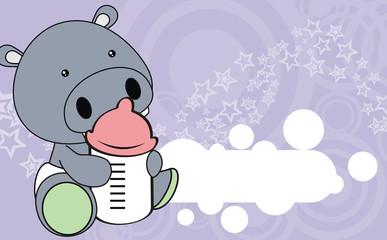 hippo baby cartoon wallpaper