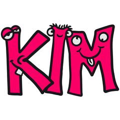 Kim Vorname Mädchen Kind Junge Lustig