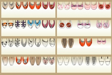 Collection of a Web Banner with a Shoe