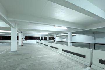 Interior of parking lot