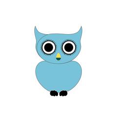 Blue owl- bird of prey