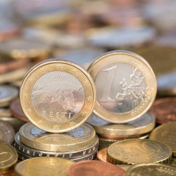 1 Euro Münze aus Estland
