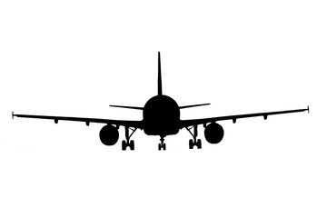 Black silhouette of aircraft
