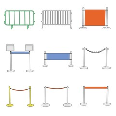 cartoon image of stand barriers