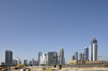 Construction site at Dubai