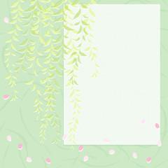 レトロかわいい枝垂れ柳