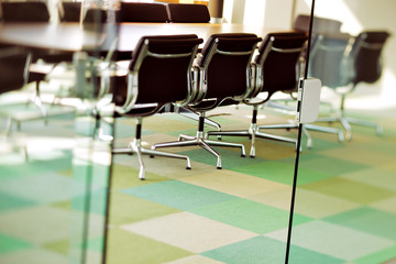 Wall Mural - This contemporary boardroom is ready for the next board meeting