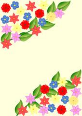 Hintergrund Blumen und Blätter mit Textfreiraum