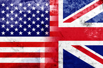 Grunge USA and UK Flag