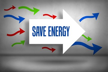 Save energy against arrows pointing