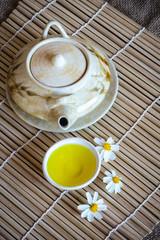 Still life tea pot and empty cup