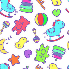 Seamless baby background. Pattern for kids