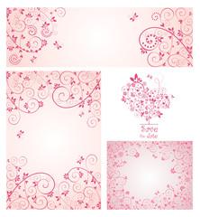 Set of greeting design