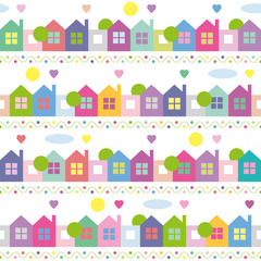 colorful houses pattern