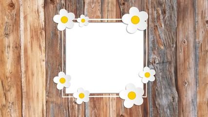 Rahmen Blumen Holz