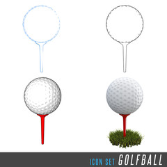 3D Iconset Golfball