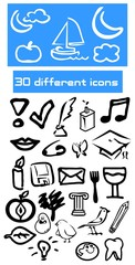 Different icons