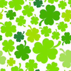 Four-leaf clover background